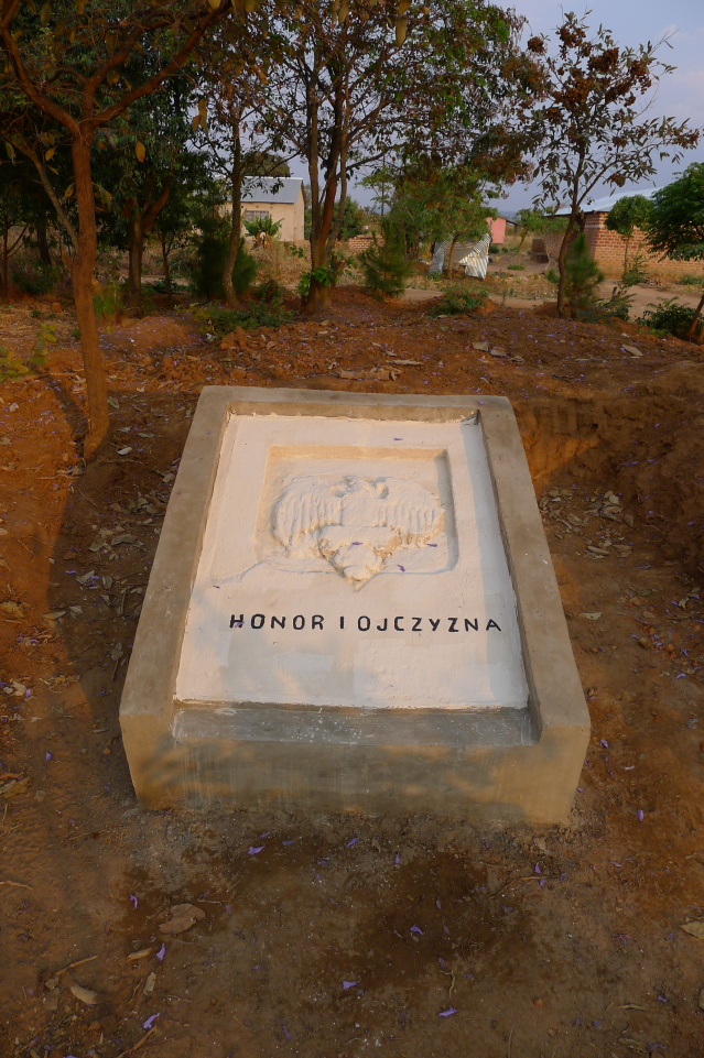 polish grave renovated